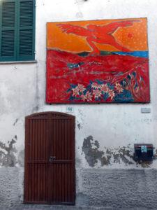 Un quadro sul muro a Casoli di Atri
